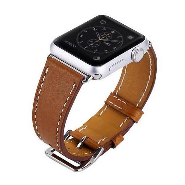 38mm Leather Watch Strap Watch Band For Apple Watch ...