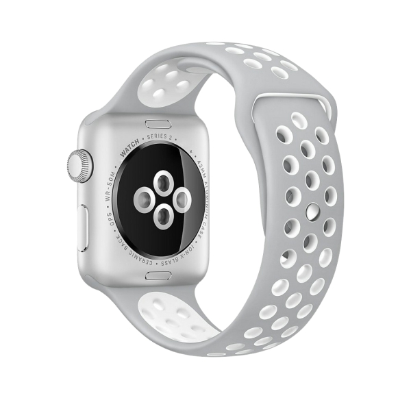 NikeSport Classical For Apple 2 WatchbandgreyWhite Watch Silicone Series 1amp; Fashionable YbgImfv76y