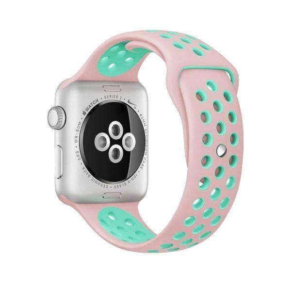 Intenzione Intenzione Pakistan  Per Watch Series di Apple 1 & Serie 2 & Nike + Sport alla moda classica del  silicone di sport cinturino (Rosa + verde) - WATCHBANDSMALL