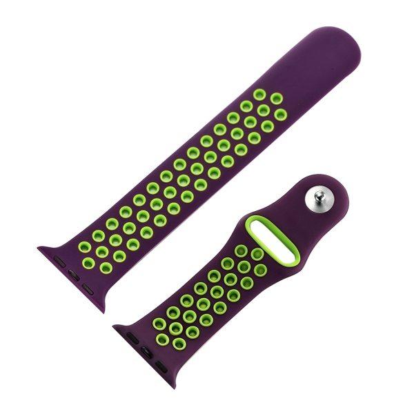 Relativamente Metti via i vestiti puramente  Per Watch Series di Apple 1 & Serie 2 & Nike + Sport alla moda classica del  silicone di sport cinturino (Viola + verde) - WATCHBANDSMALL