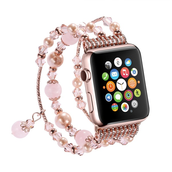 42MM Apple Watch Band Luxury Crystal Agate Band Women Girls iWatch ... 6c00be677909