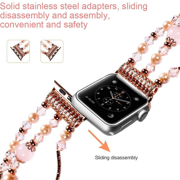 Leather strap for apple watch 4 band 44mm 40mm aplle watch