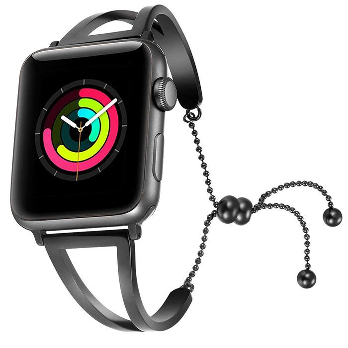 51761c7e4 Apple Watch Band Released Splendid Stainless Steel Strap for Apple Watch  Band for Feminine Women Girls – Black
