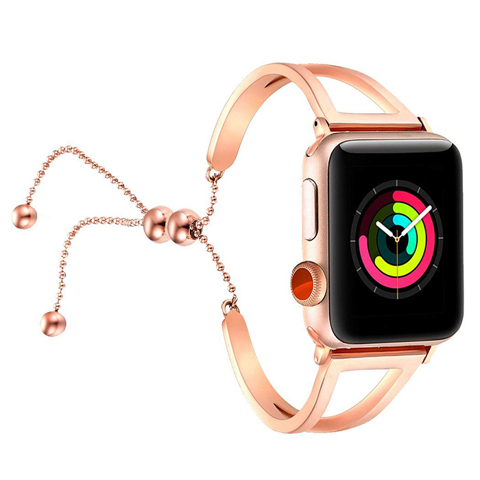 239b6af8c Apple Watch Band Released Splendid Stainless Steel Strap for Apple Watch  Band for Feminine Women Girls – Rose Gold